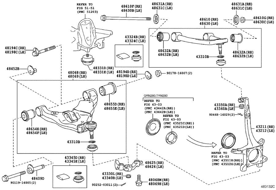 Toyota 4Runner Suspension Control Arm (Right, Front, Lower