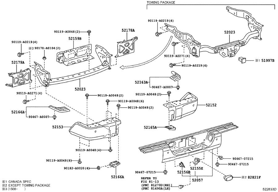 Toyota Tundra Reinforcement sub-assembly, rear bumper