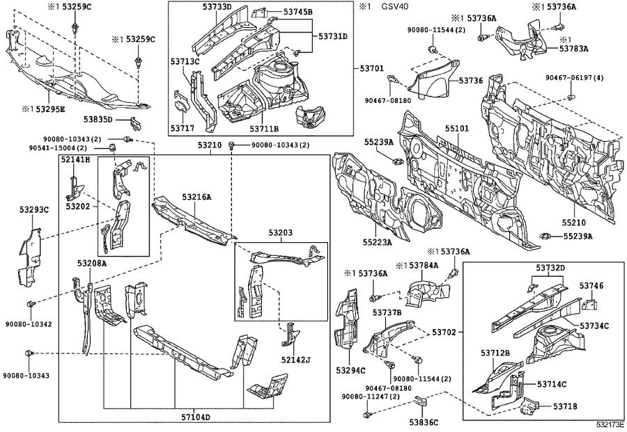 Toyota Camry Radiator Support Side Panel (Left, Front