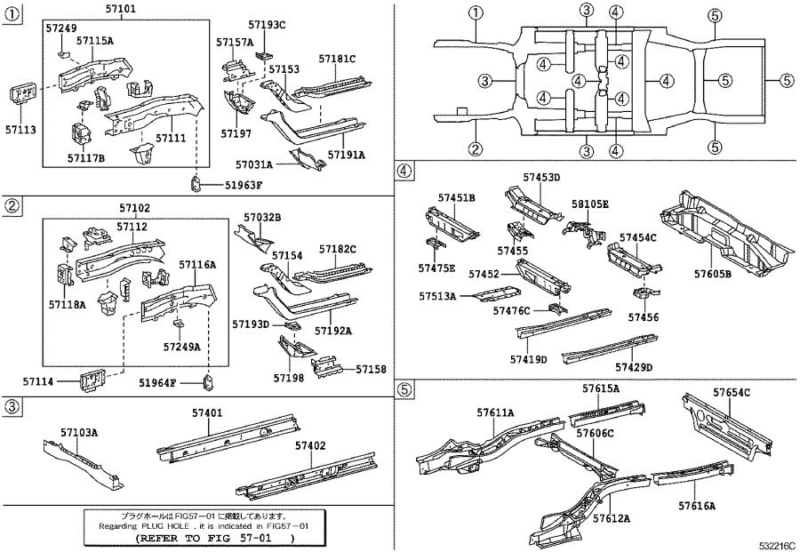 Toyota Camry Extension; plate sub-assembly. Front side