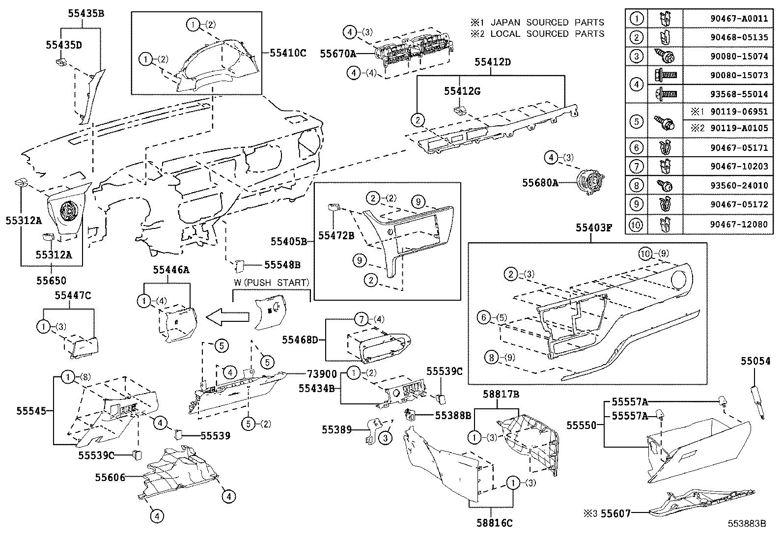Toyota Corolla Panel Sub Assembly Instrument Cluster