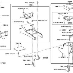 2005 Toyota Tacoma Parts Diagram Wiring For Switch And Plug Clip Console Box Gray