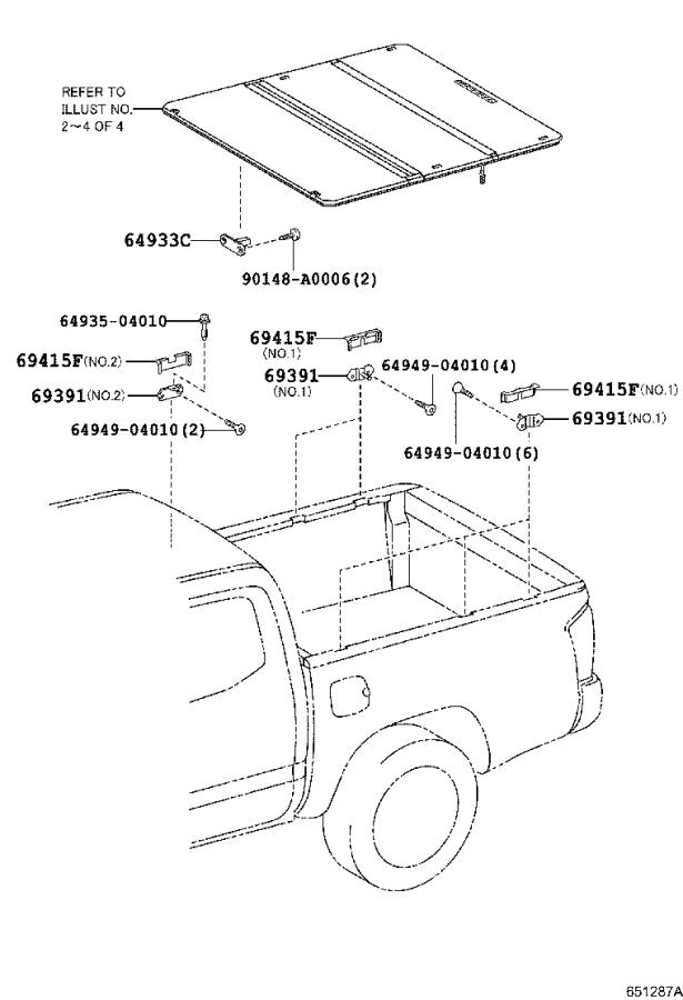 2017 Toyota Tacoma Cover, tonneau cover release cable