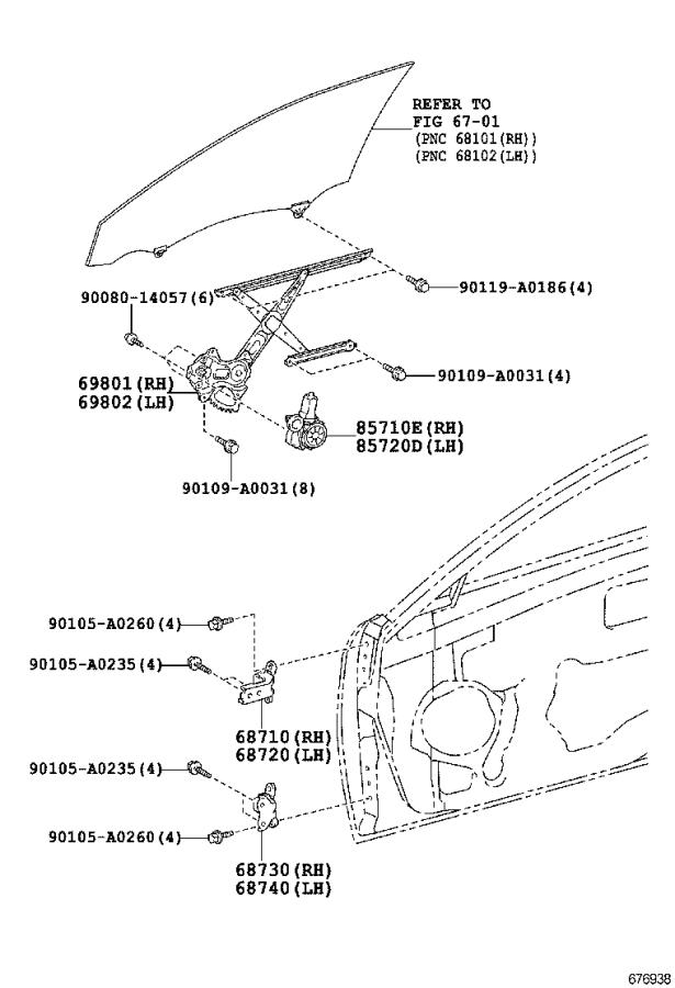 Toyota Camry Hinge assembly, front door, lower left
