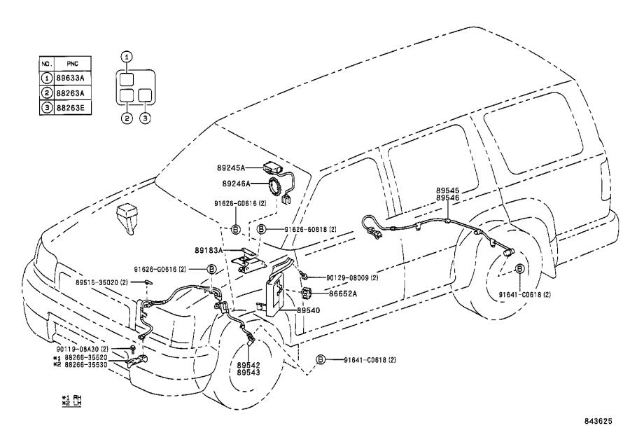 2002 Toyota 4Runner Computer assembly, skid control