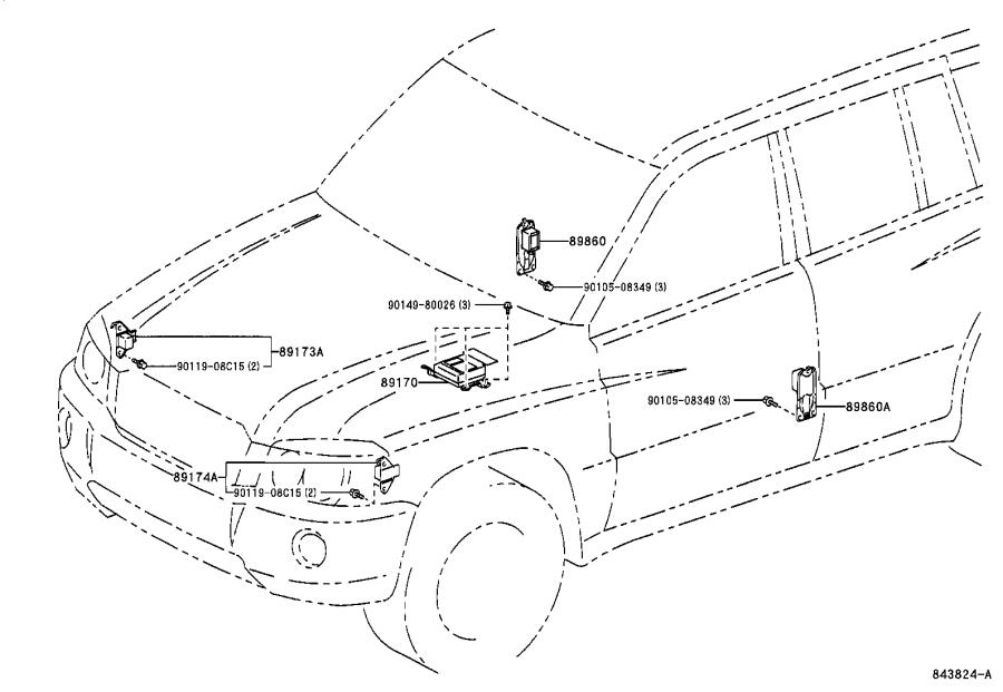2006 Toyota Highlander Sensor, seat position air bag