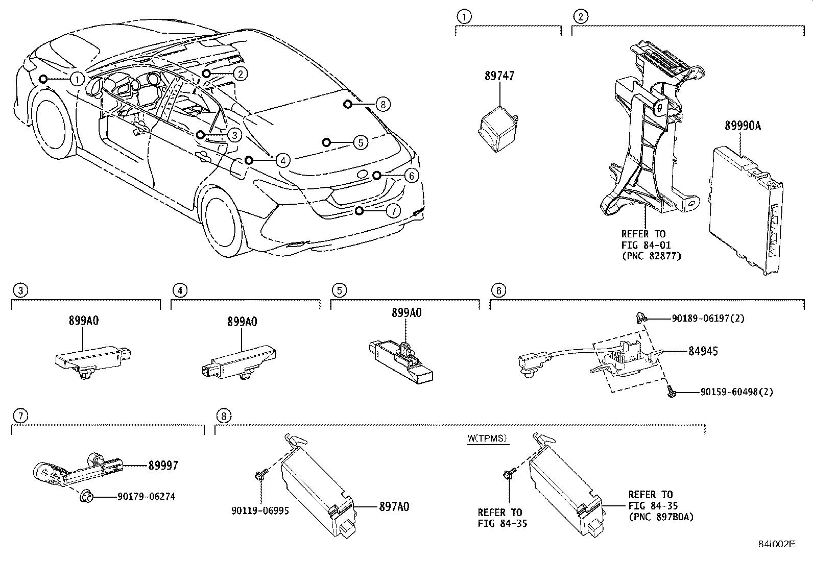 Toyota Camry Antenna Assembly Oscillator Indoor