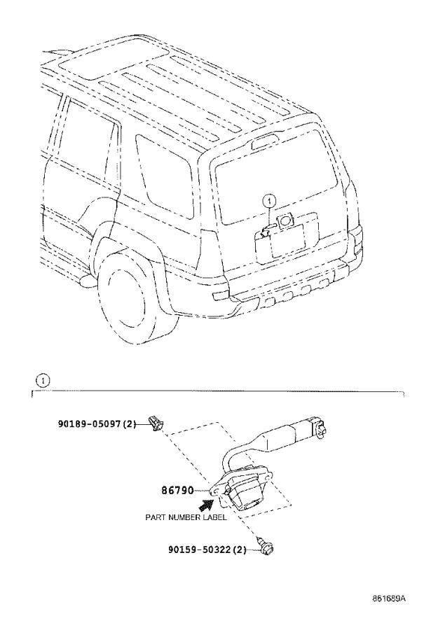 Toyota 4Runner Camera assembly, television. Audio