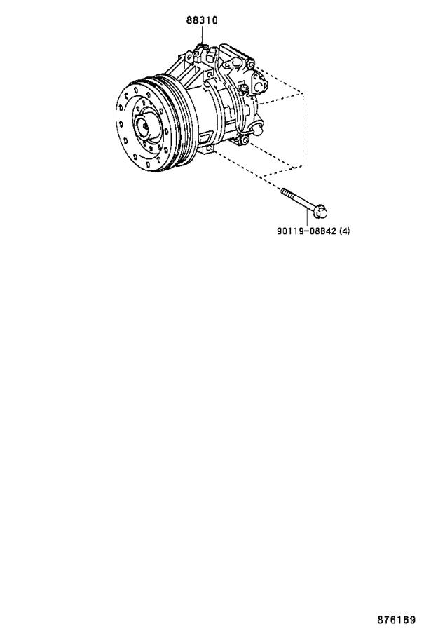 2006 Scion XB Compressor assembly, with pulley. Electrical