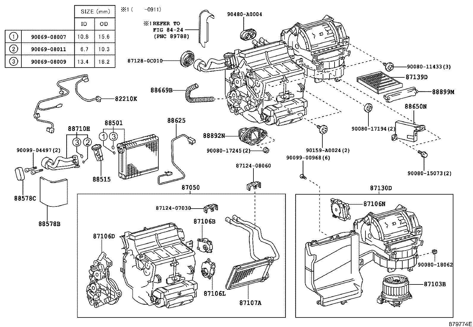 Toyota Sienna Motor Sub Assembly Blower With Fan