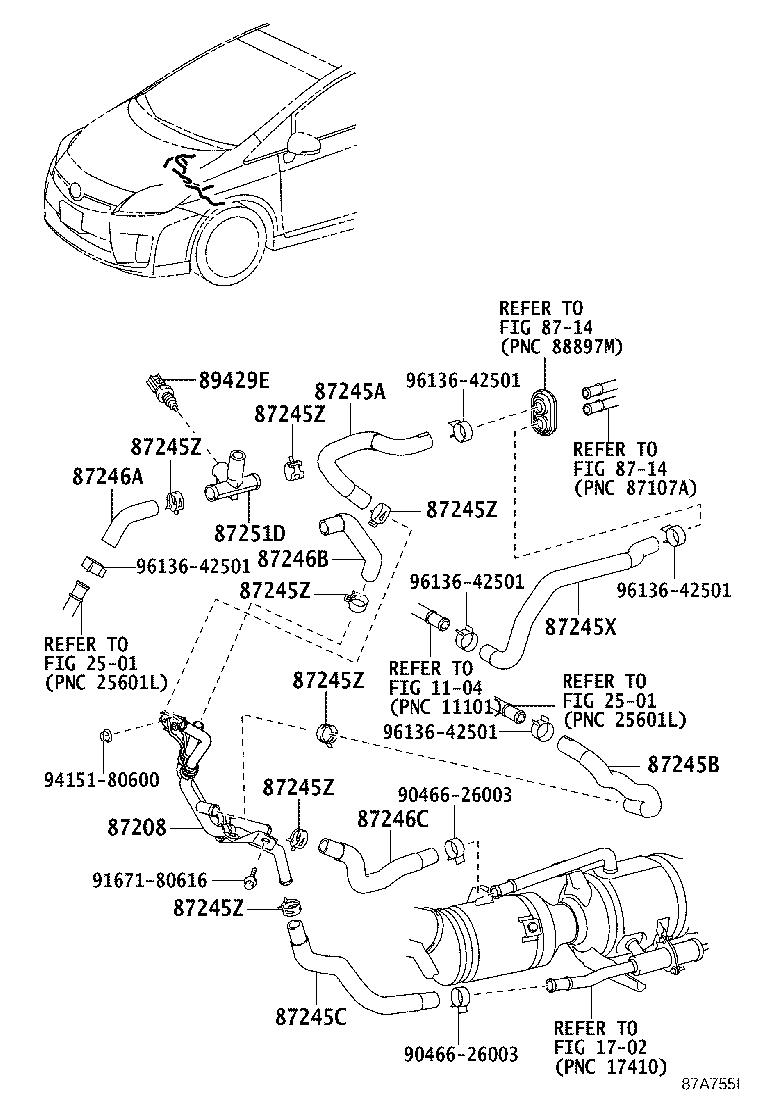 Wiring Diagram: 14 2008 Toyota Prius Parts Diagram