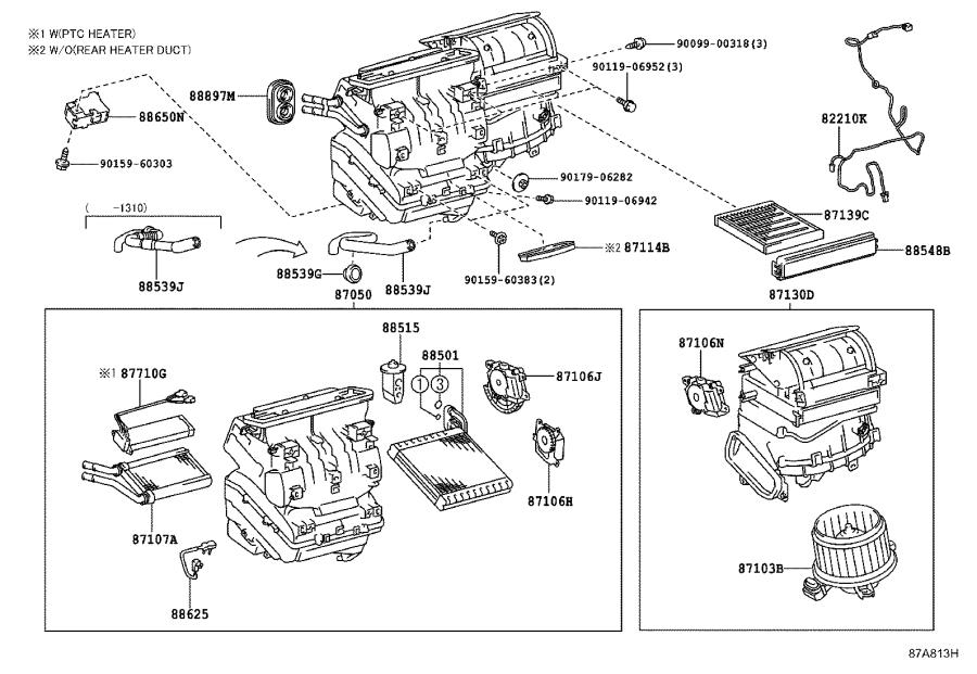 2015 Toyota Prius Amplifier assembly, air conditioner