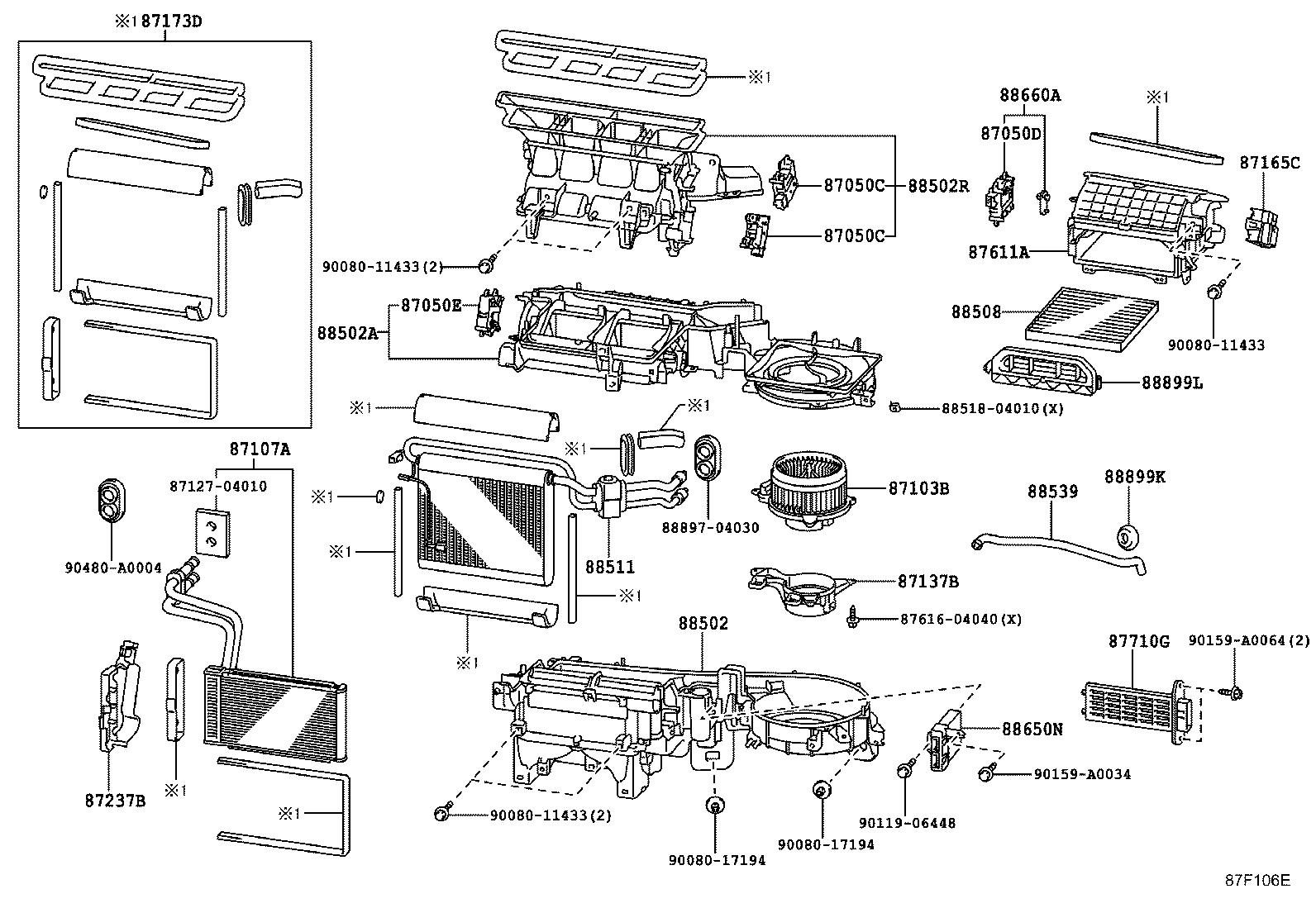 2005 toyota tacoma parts diagram wiring 5 pin relay 2009 damper heater air conditioning