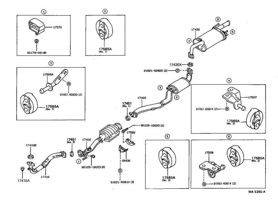 1992 Toyota Corolla Bracket, exhaust pipe no. 1 support