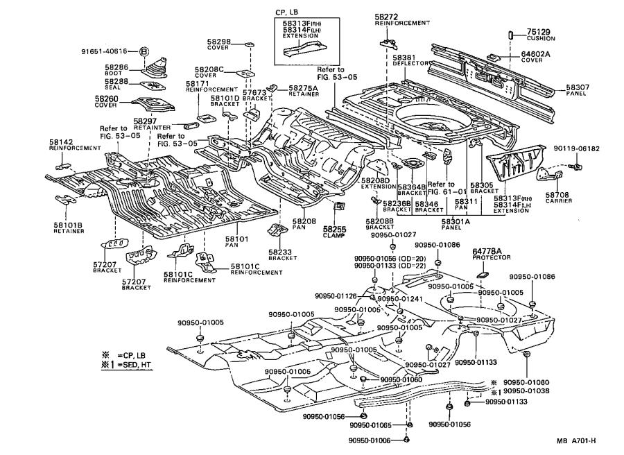 1983 Toyota Corolla Carrier; carrier sub-assembly. Jack