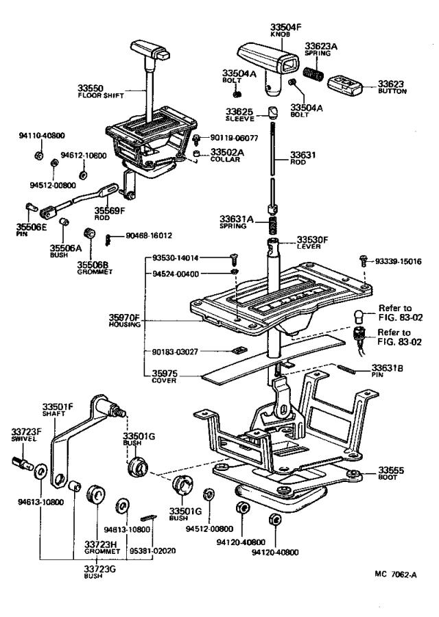 Toyota PickUp Retainer sub-assembly, control shift lever