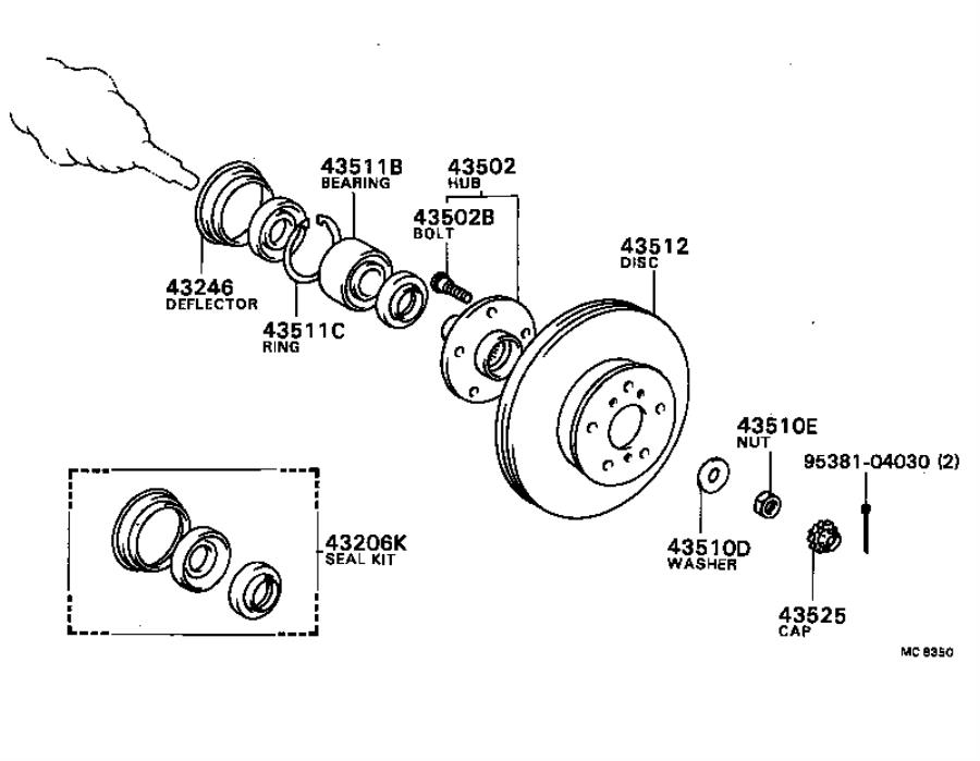 1984 Toyota Camry Wheel Seal (Front, Rear). Seal Kit, Axle