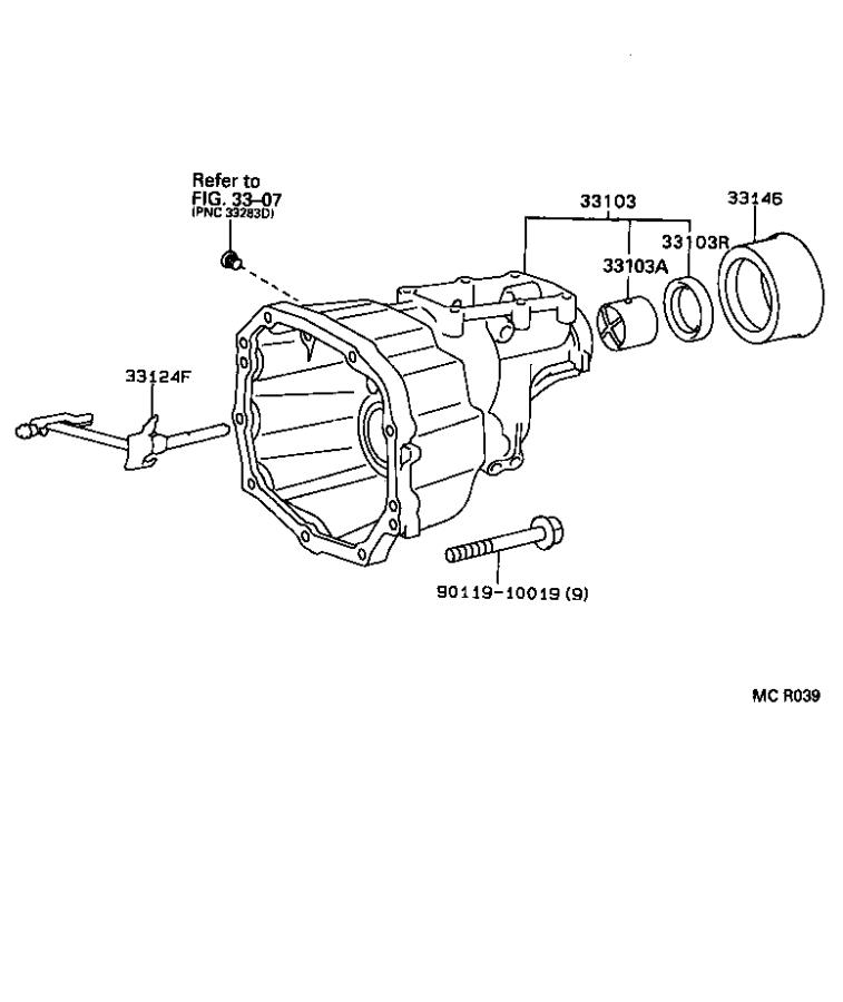 1999 Toyota Transfer Case Extension Housing Bearing. FOR