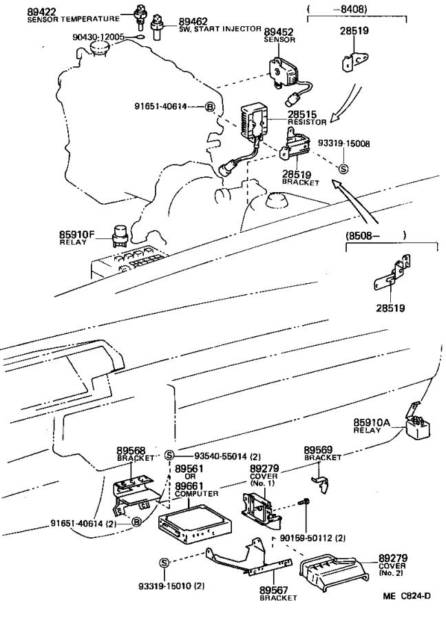 1984 Toyota Relay assembly, circuit opening (for efi