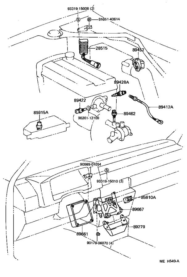 1986 Toyota Van Switch, water temperature (for e.f.i). Usa