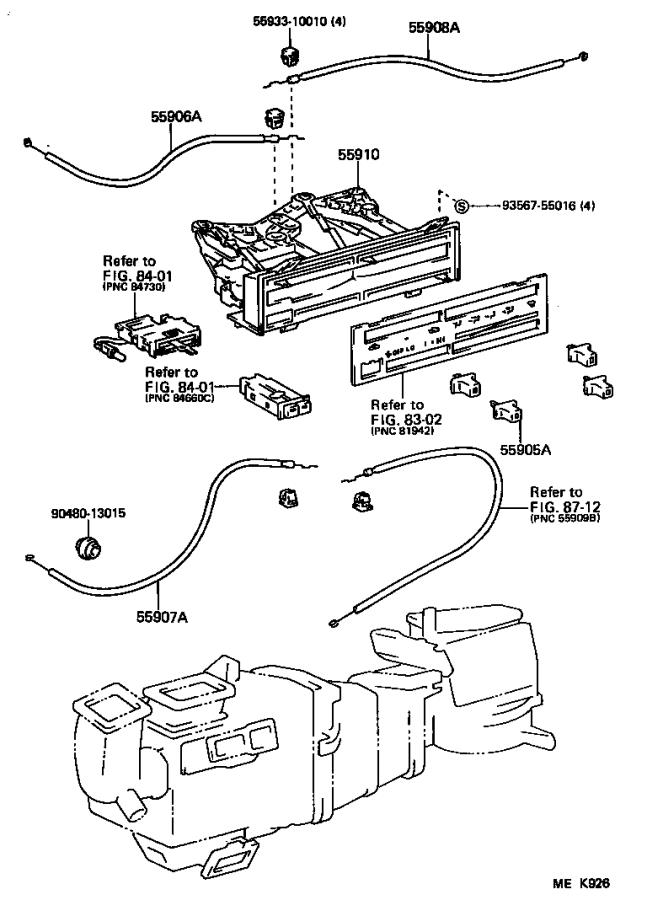 1990 Toyota Camry Bulb, air conditioner control. Green