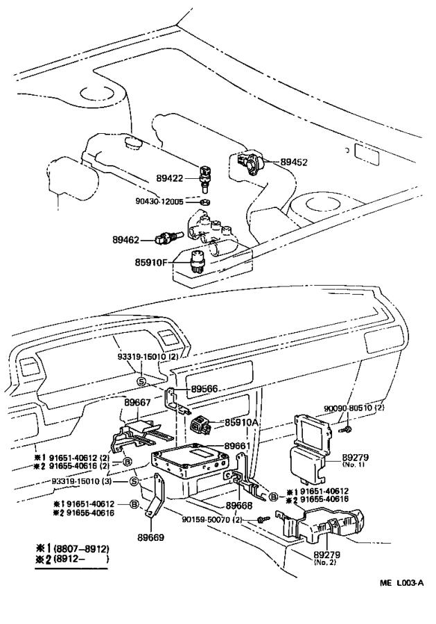 Toyota Camry Switch, start injector time. Electrical, twt