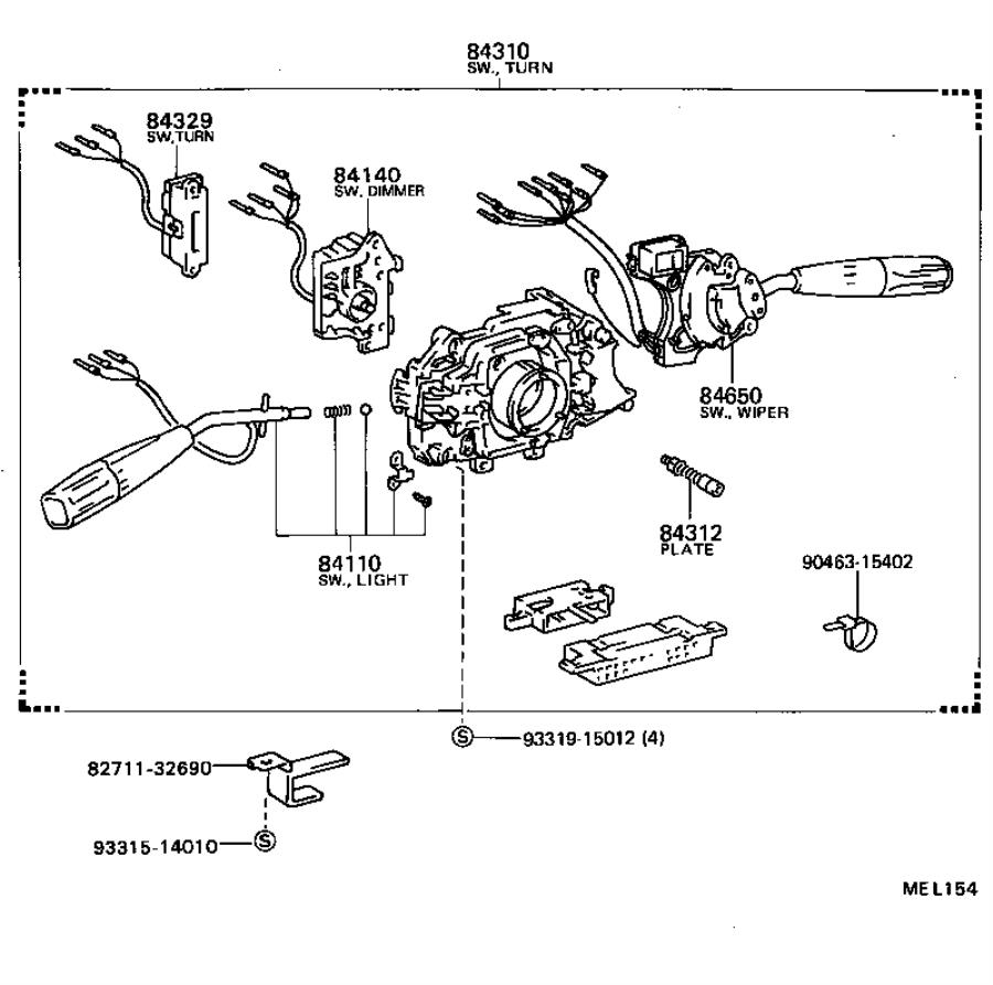 1990 Toyota Camry Automatic Transmission Gear Position