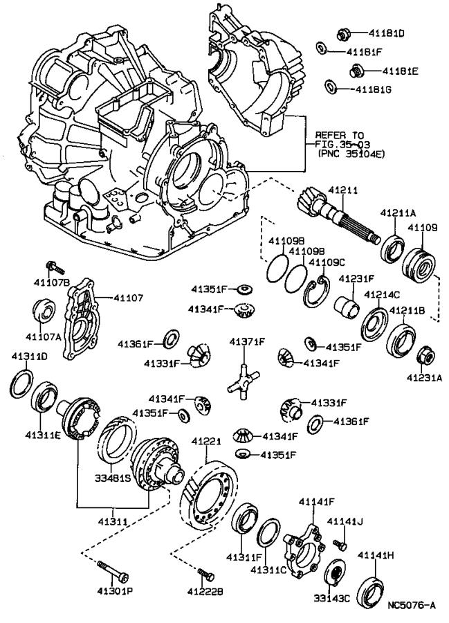 1987 Toyota Automatic Transmission Differential Carrier