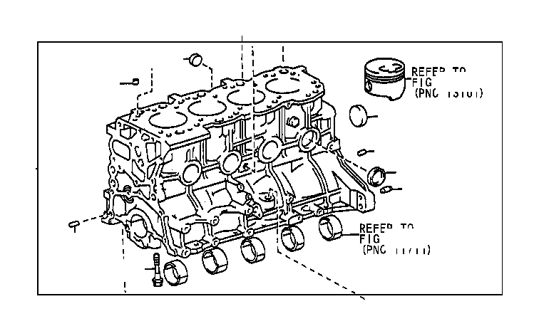 1997 Toyota T100 Block sub-assembly, cylinder. Engine