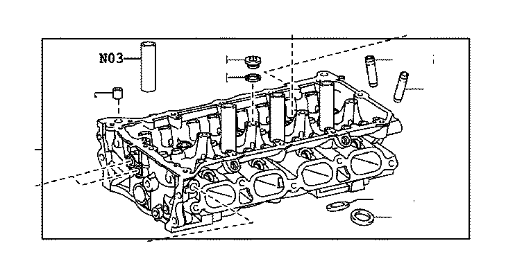 2003 Toyota RAV4 Head sub-assembly, cylinder. Engine