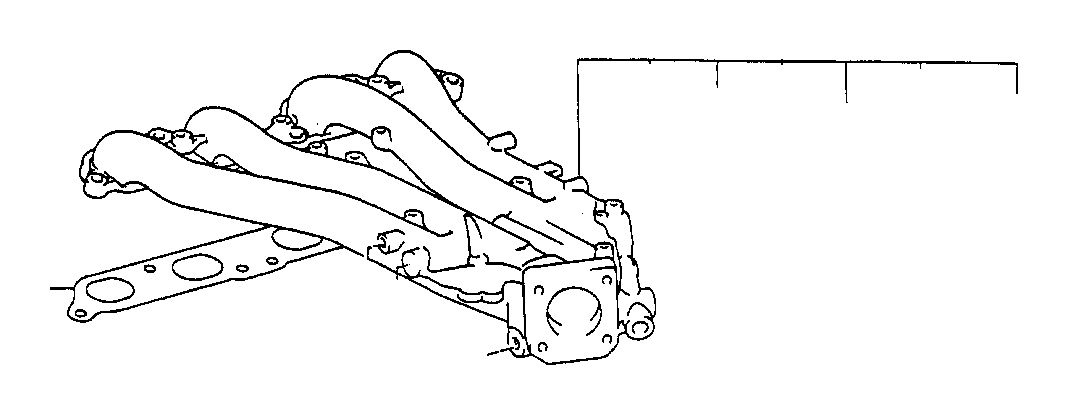 1991 Toyota Previa Gasket. Cold start fuel injector; cold