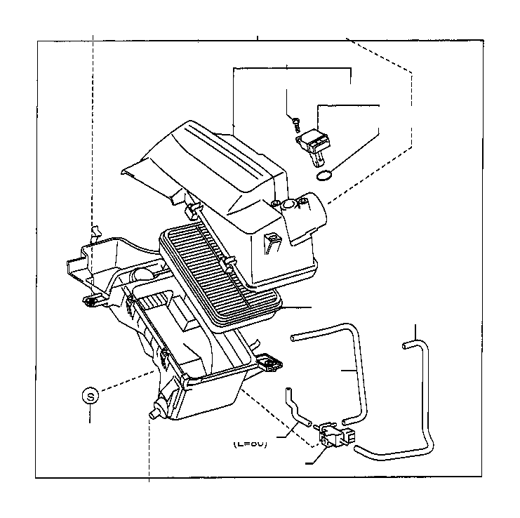 2000 Toyota Echo Meter assembly; meter sub-assembly