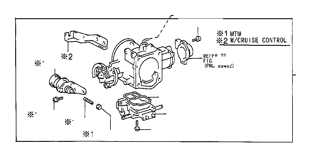 Toyota T100 Fuel Injection Throttle Body. System, MTM