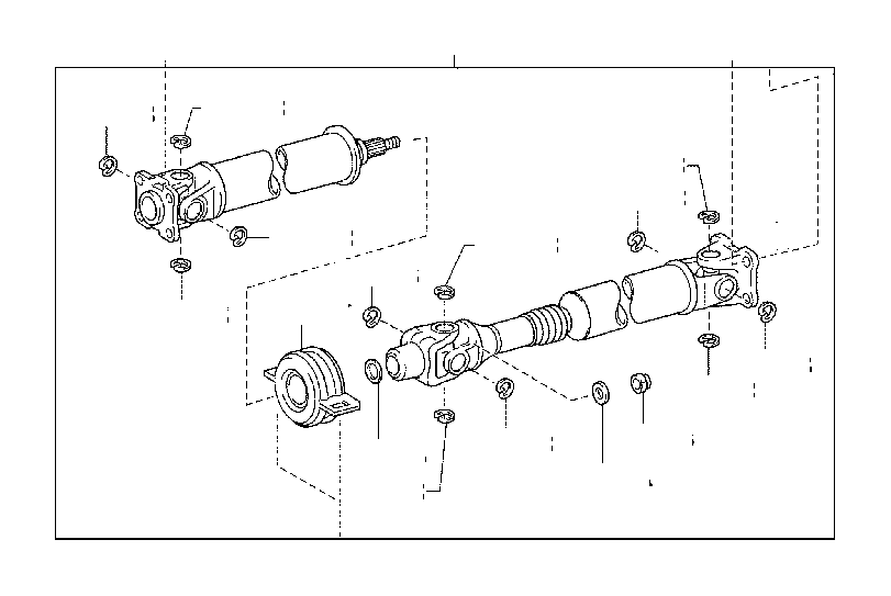 2006 Toyota Tacoma Bearing assembly. Center support, no. 1