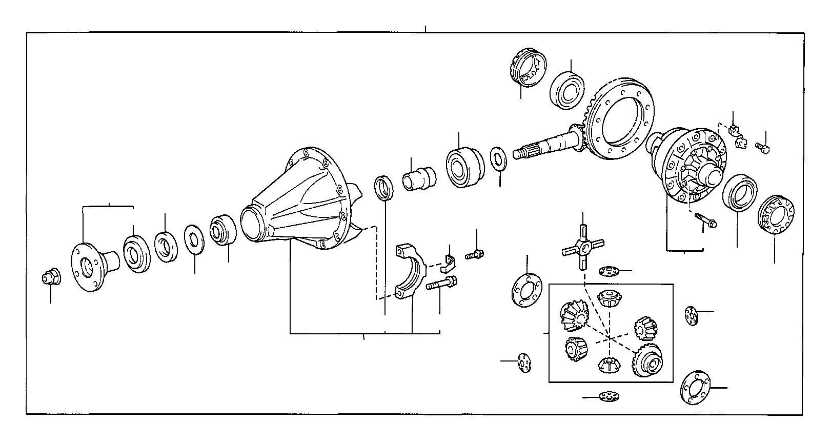 Toyota Tacoma Differential Pinion Bearing Front