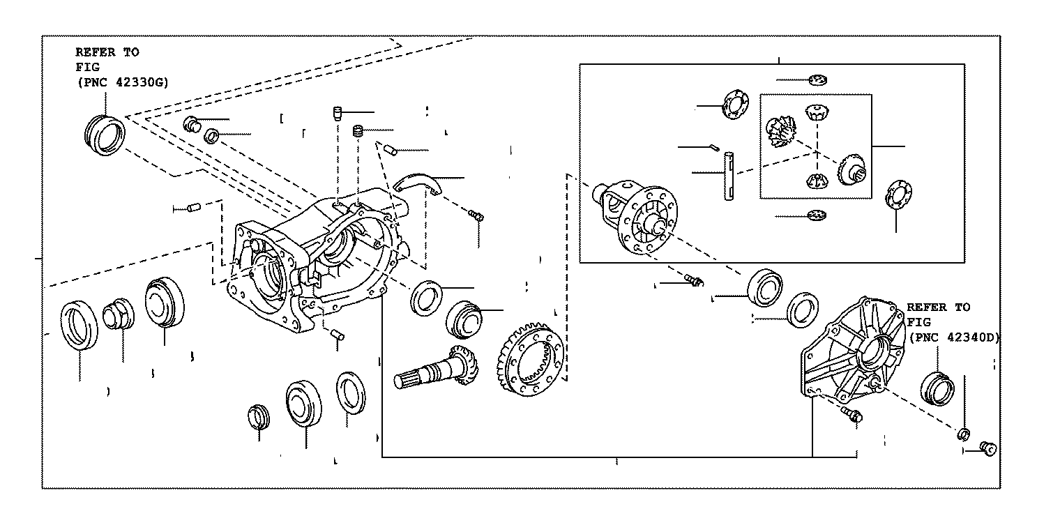 2007 Toyota RAV4 Carrier assembly, differ. Differential