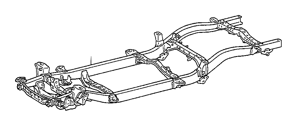 Toyota Tacoma Frame Rail. Structural component that
