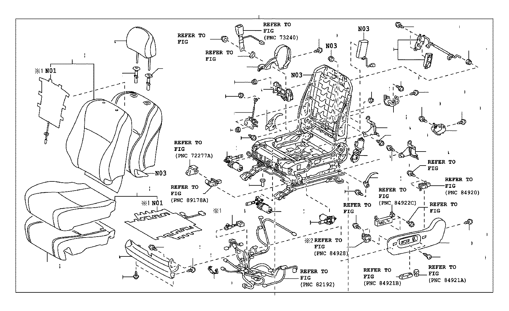 Toyota Venza Seat Parts Diagram. Seat. Auto Wiring Diagram