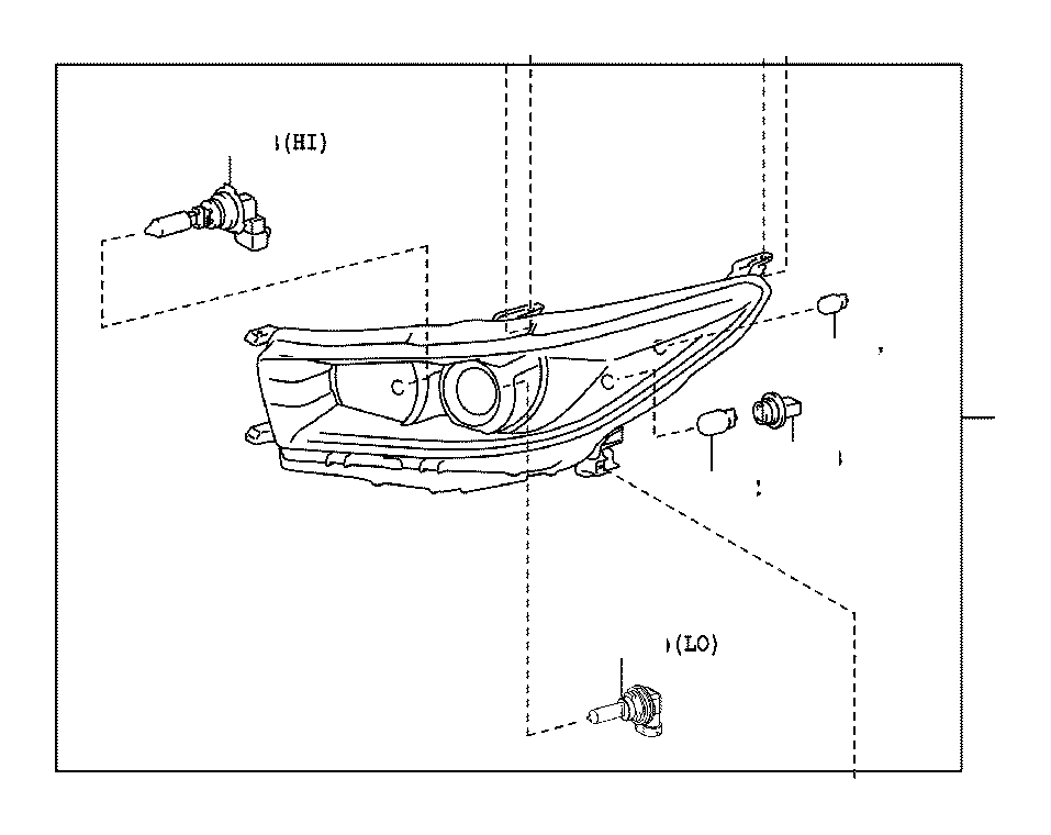 2017 Toyota Tacoma Socket; socket & wire. Front side marker lamp; front turn signal lamp
