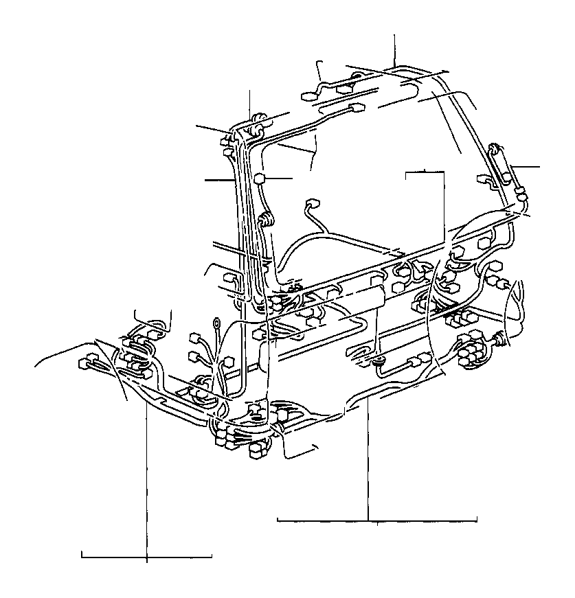 2007 Toyota Land Cruiser Wire, frame. Electrical, wiring