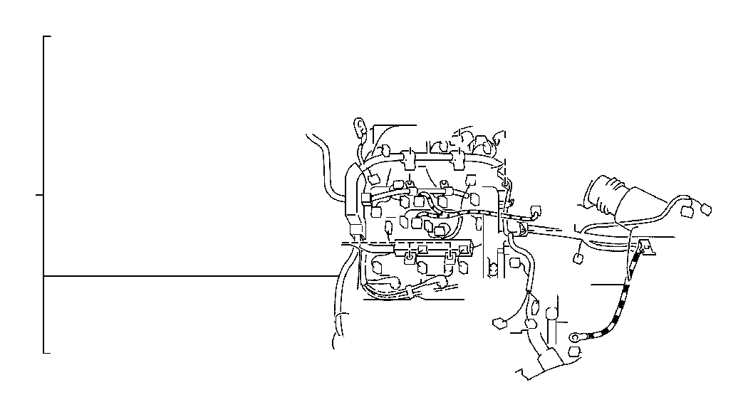 2005 Toyota Camry SE 2.4L M/T Engine Wiring Harness