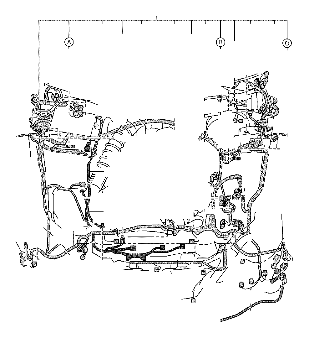 toyota tacoma wiring harness clamp diagram