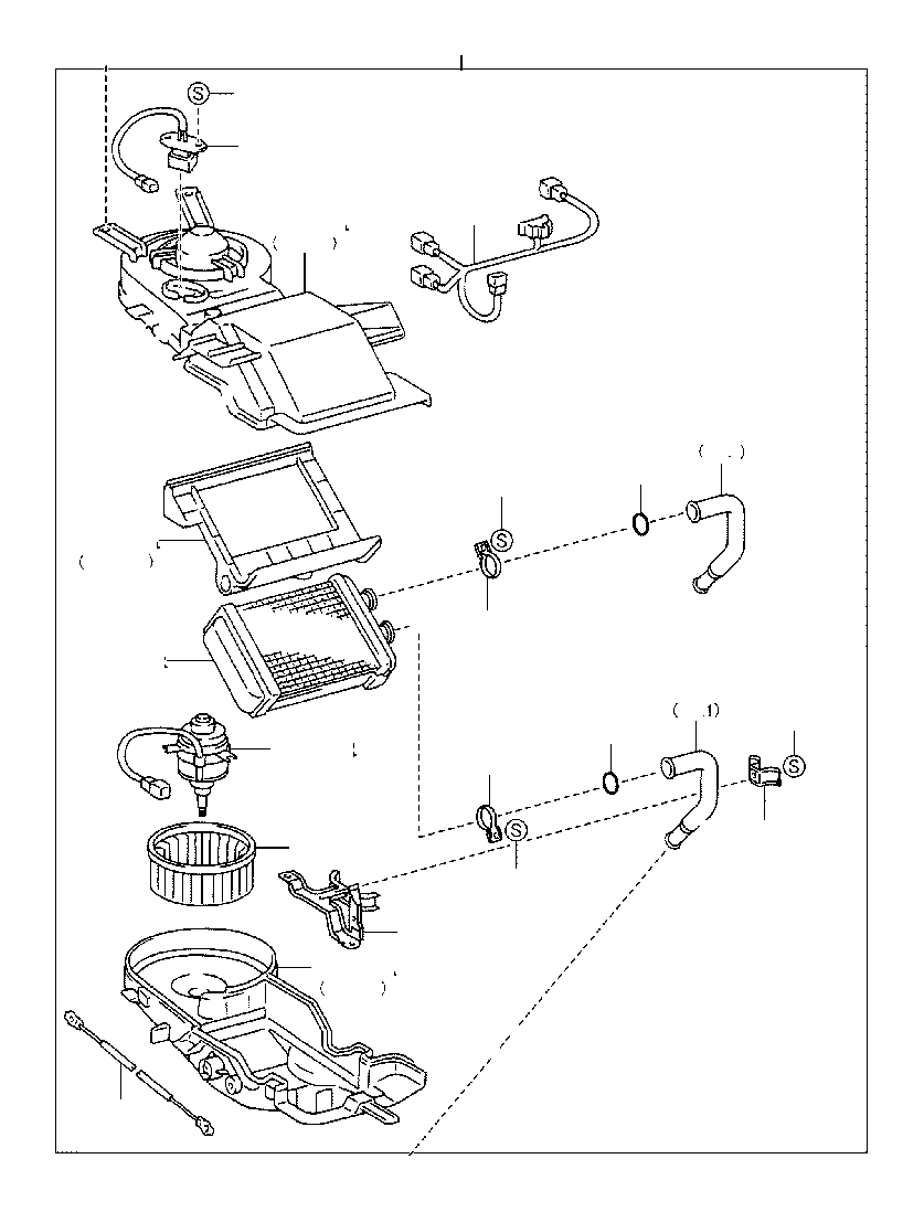 1997 Toyota 4Runner Connector, heater water hose, no. 2
