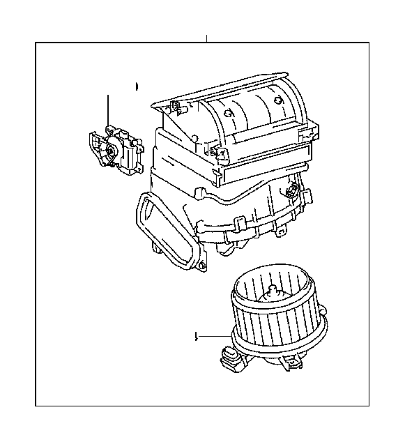 Toyota Prius v Motor sub-assembly, blower with fan