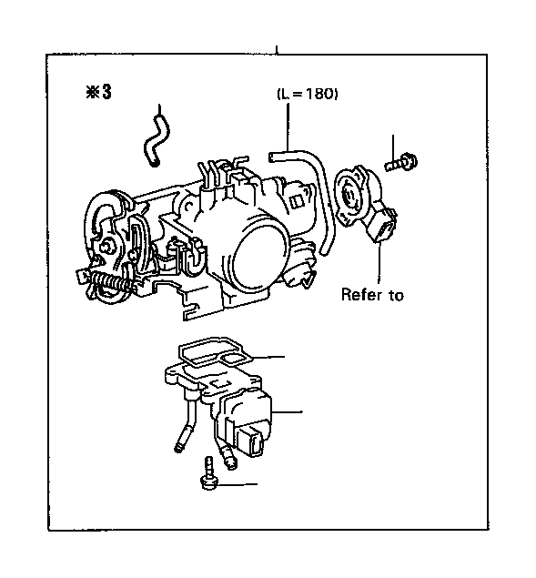 2001 Toyota Avalon Fuel Injection Idle Air Control Valve