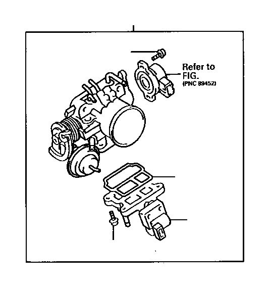 1992 Toyota Camry Gasket. Idle speed control valve