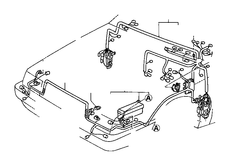 1994 Toyota 4Runner Connector, wiring harness. Electrical
