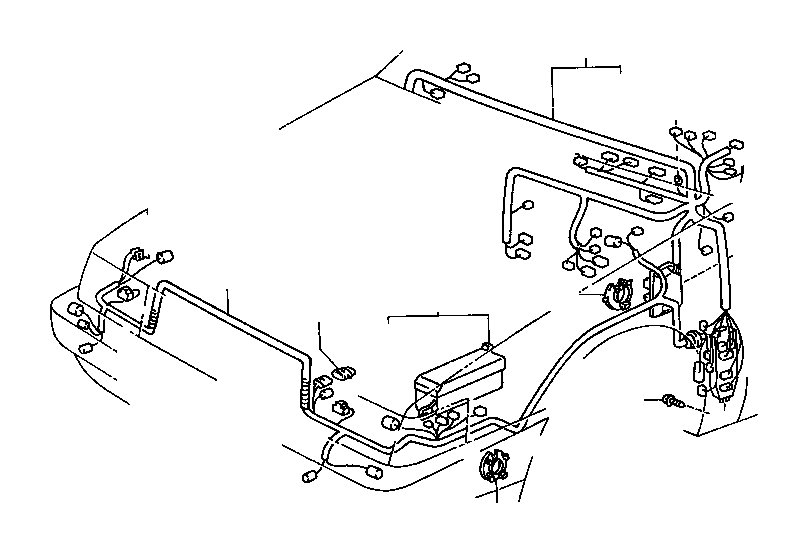 1988 Toyota Cressida Protector. Wiring harness, no. 1