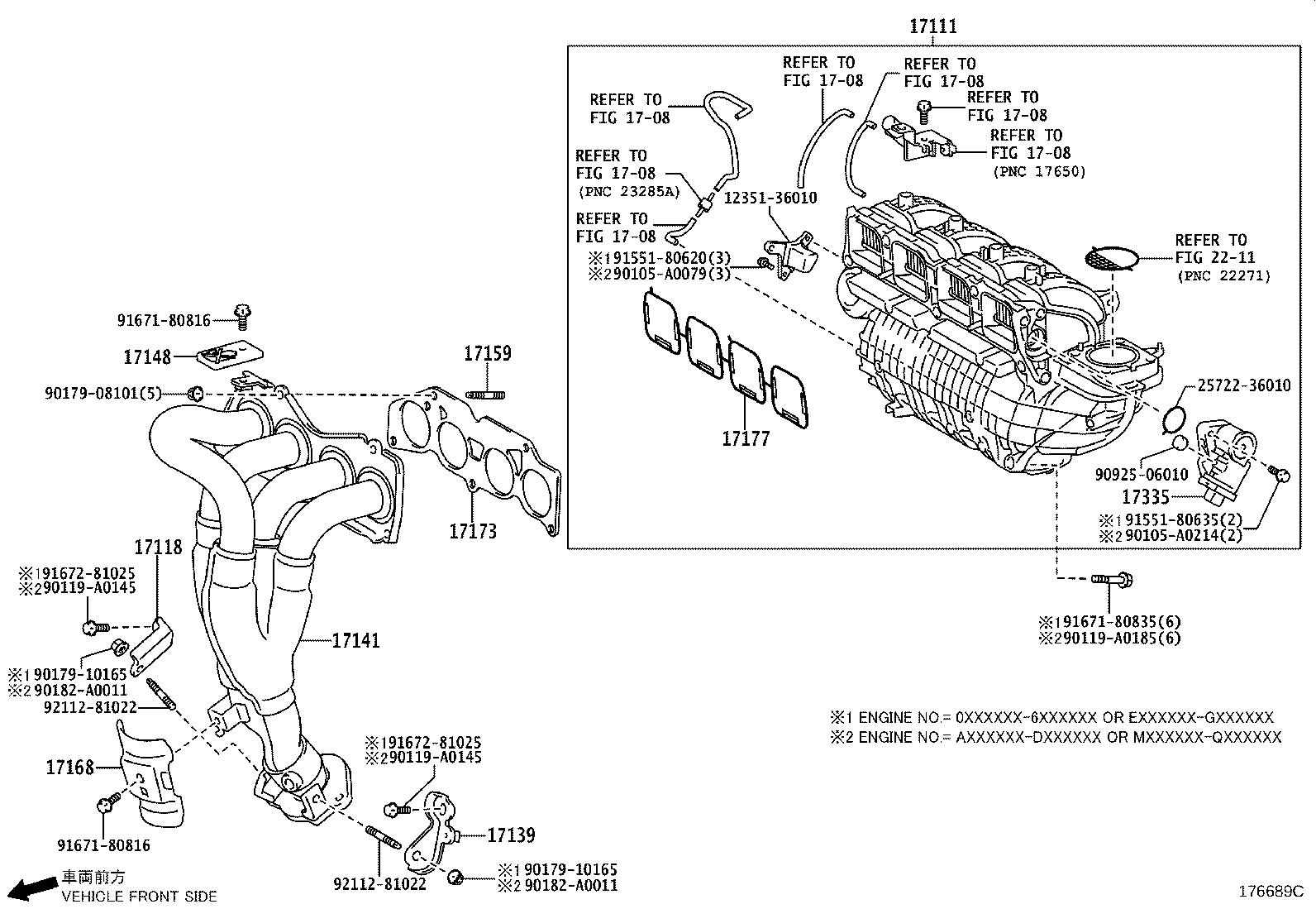 2005 Toyota Sienna Manifold sub-assembly, exhaust, right