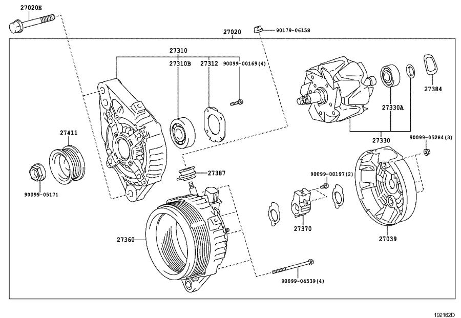 Toyota Tacoma Alternator Pulley. Pulley, Alternator with